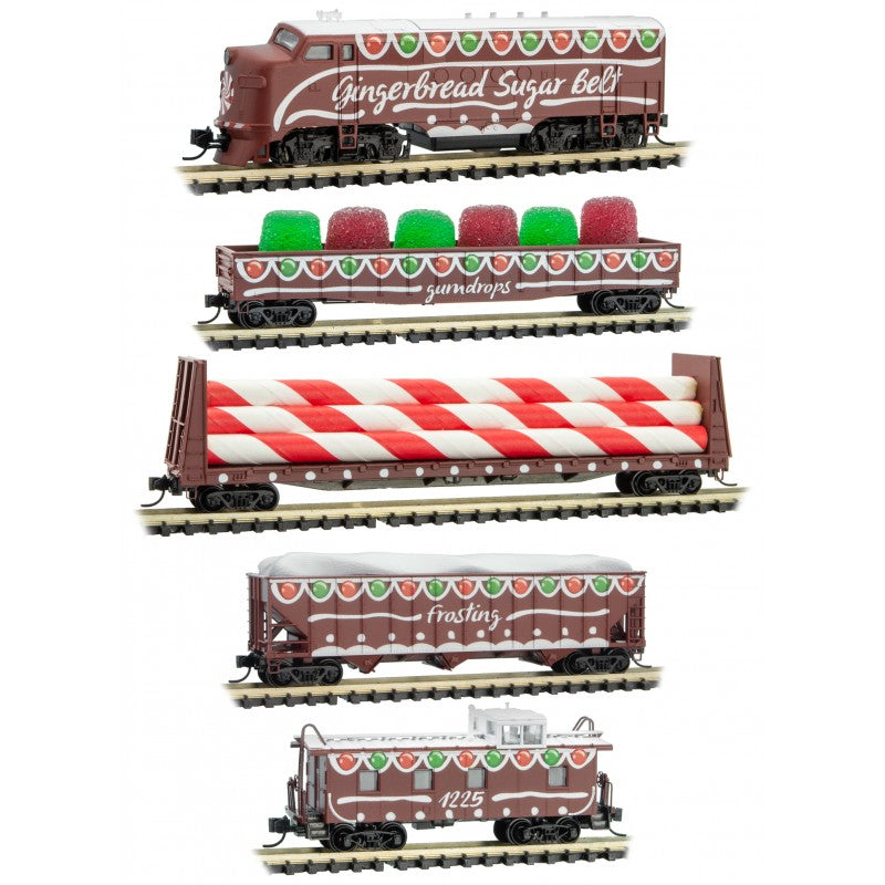 N Scale: Gingerbread Sugar Belt - Train Set