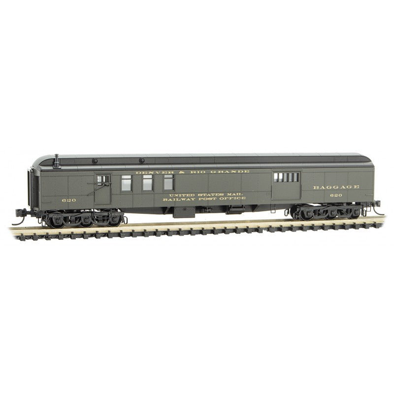 N Scale: 70' Heavyweight Mail-Baggage Car - Rio Grande