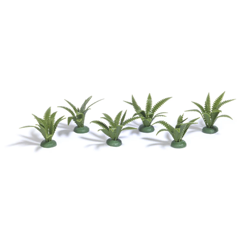 HO Scale: Fern Bunches - 6 Pack