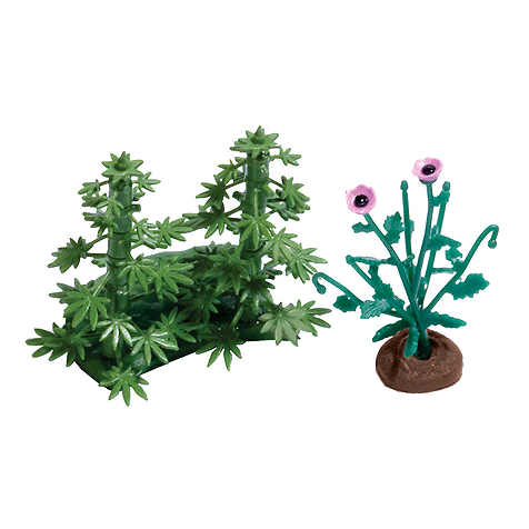 HO Scale: Hemp & Poppy Plants