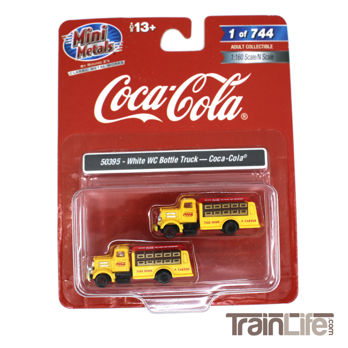 N Scale: White WC Bottle Truck - Coca-Cola
