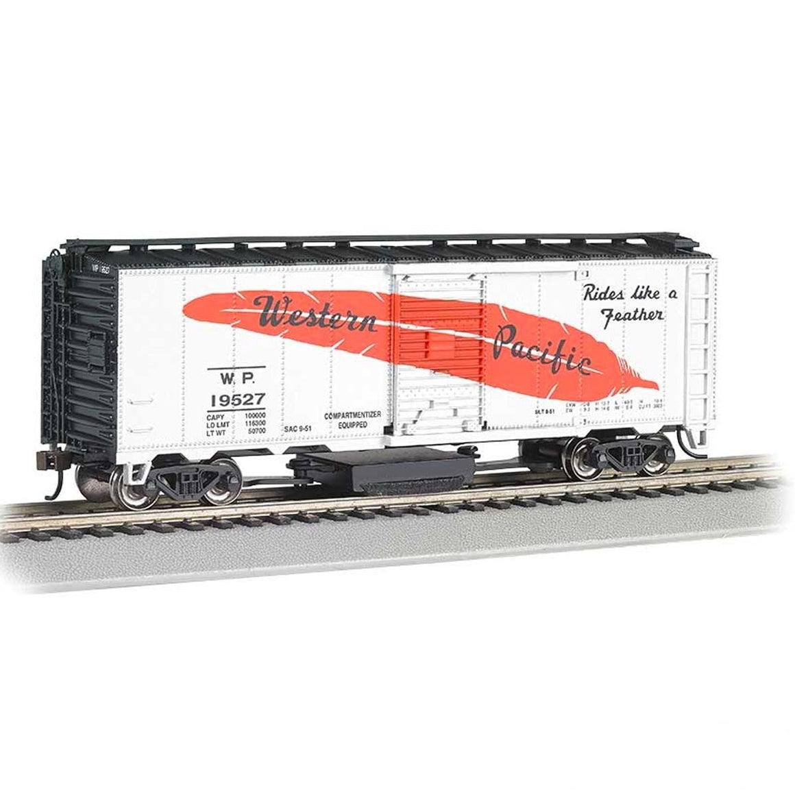 HO Scale: 40' Track Cleaning Boxcar - Western Pacific
