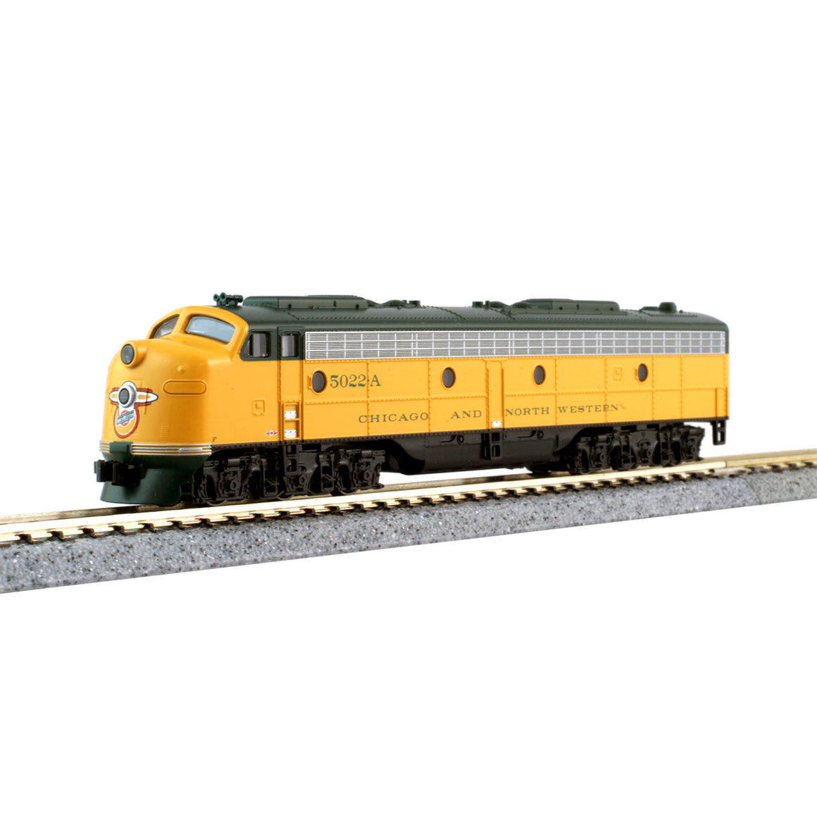 "N Scale: E8A & Pullman Bi-Level Chicago & North Western ""400"" Train – 6 Car Set"