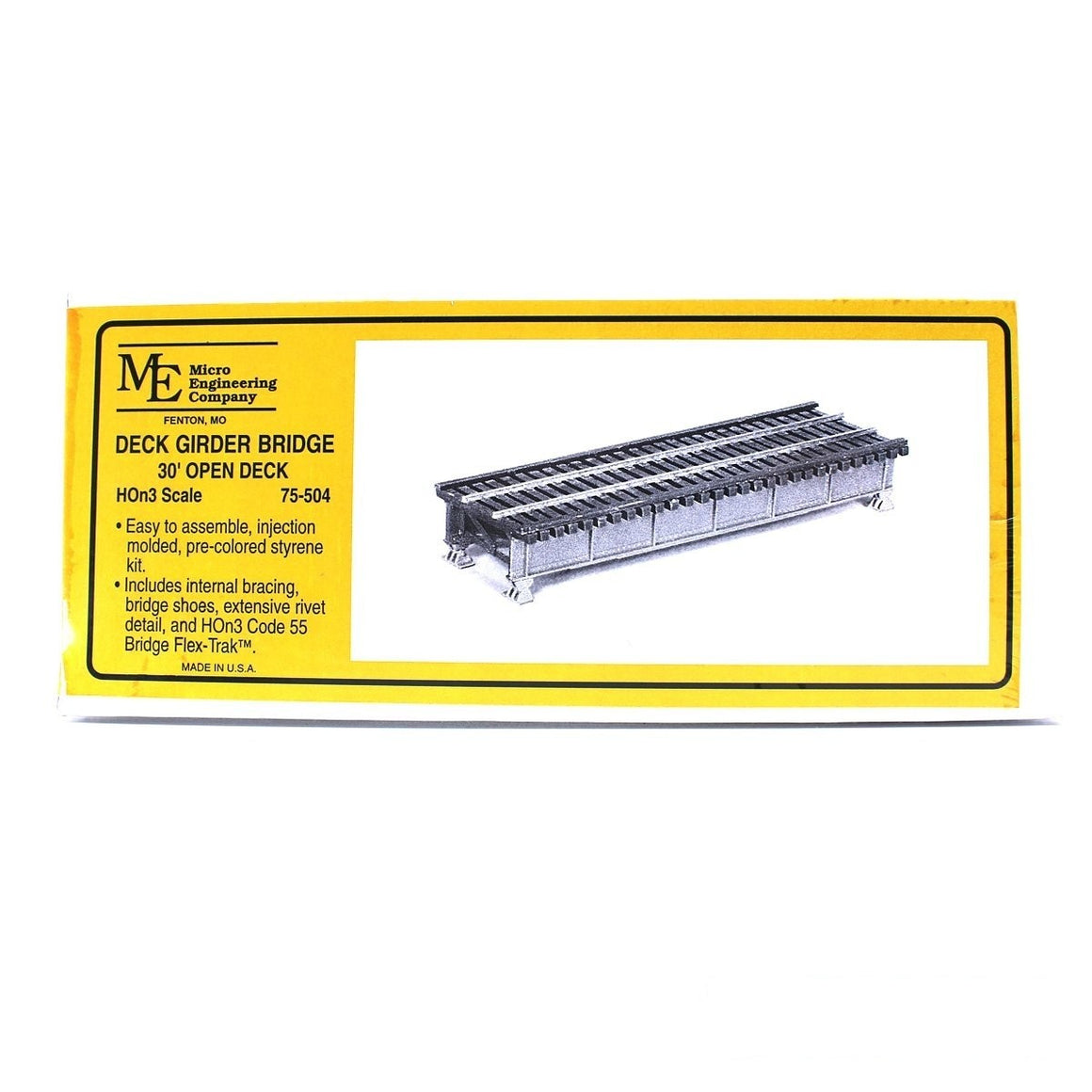 HOn3: Open Deck Girder Bridge - 30-Foot