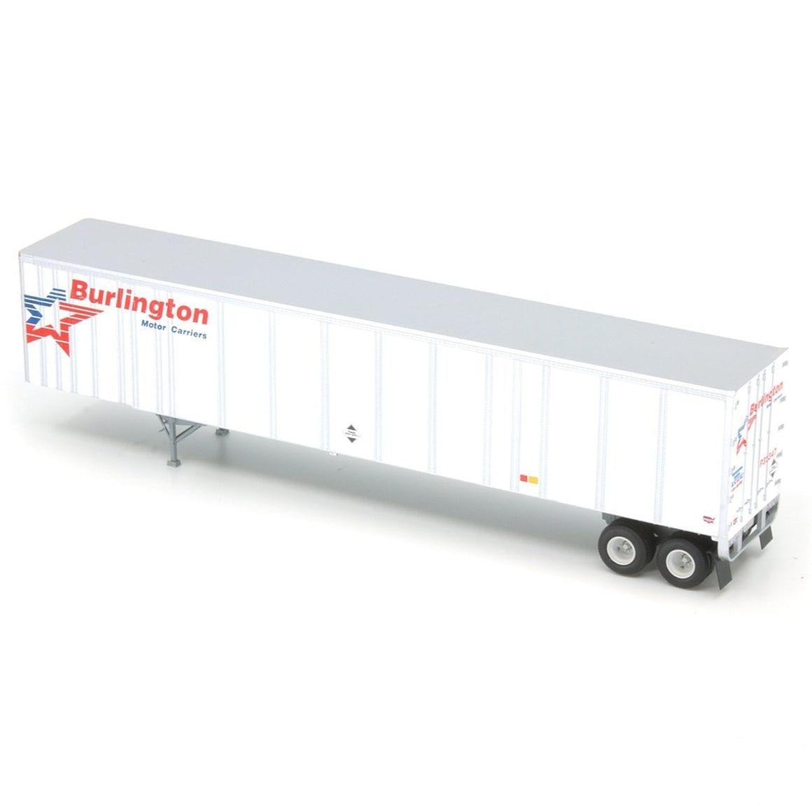 HO Scale: 53' Wabash Plate Trailer - Burlington