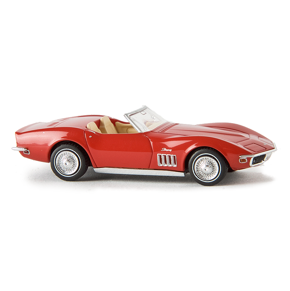HO Scale: 1967-1973 Chevrolet Corvette C3 Convertible - Signal Red