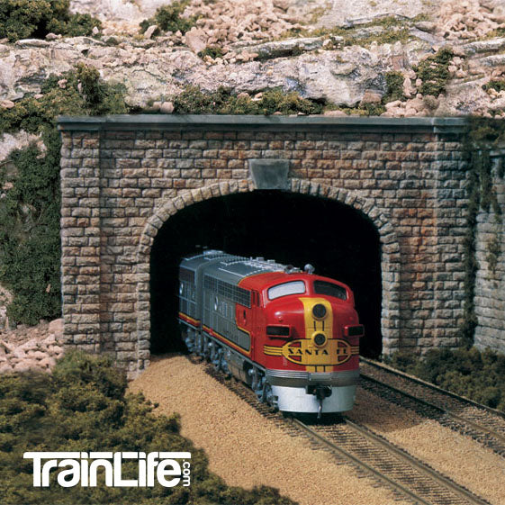 N Scale: Cut Stone Double Track Tunnel Portal