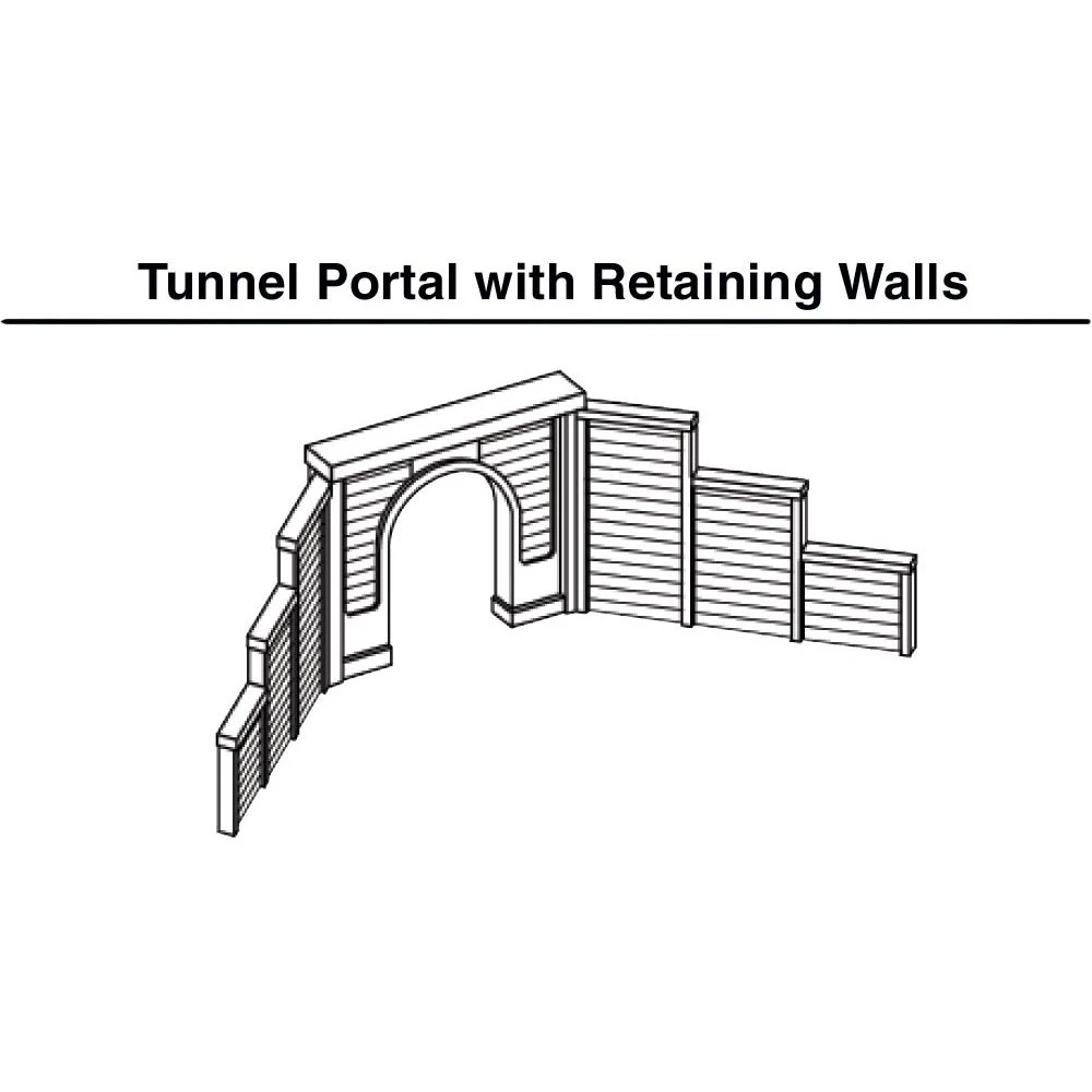 N Scale: Concrete Double Track Tunnel Portal