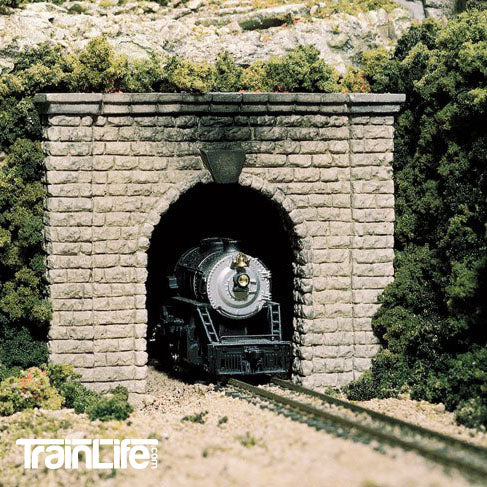 N Scale: Cut Stone Single Track Tunnel Portal