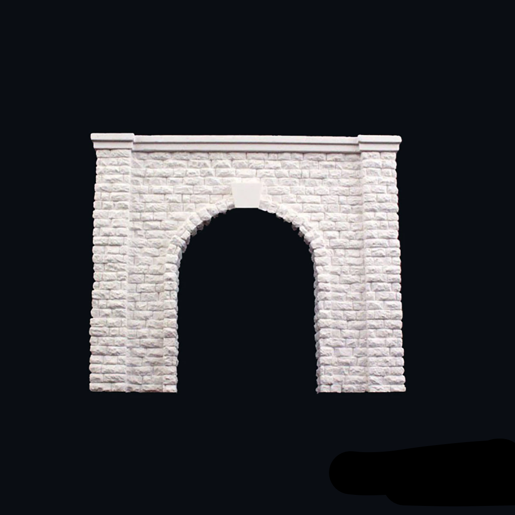 HO Scale: Cut Stone Single Track Tunnel Portal