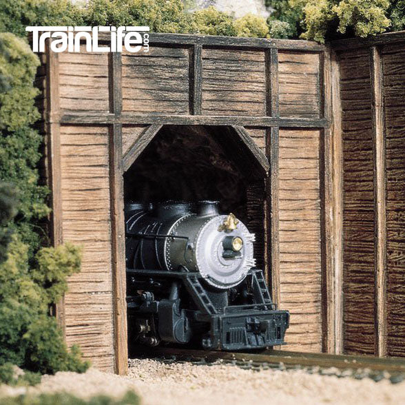 HO Scale: Timber Single Track Tunnel Portal
