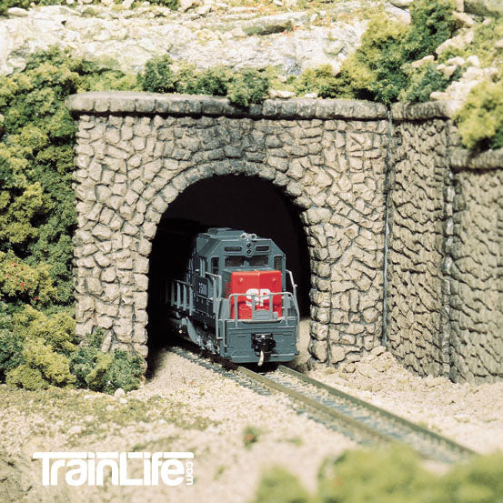 N Scale: Random Stone Single Track Tunnel Portal