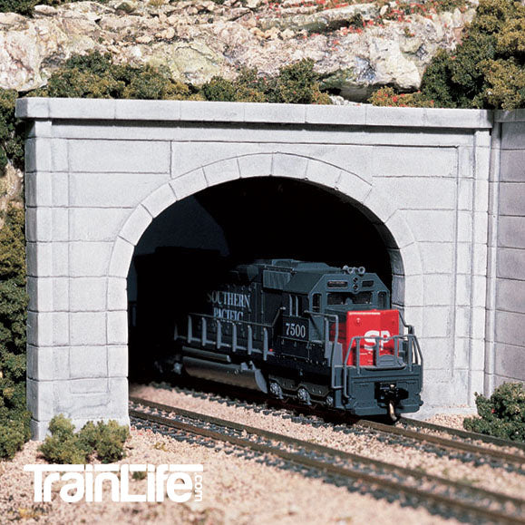 HO Scale: Concrete Double Track Tunnel Portal