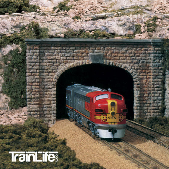 HO Scale: Cut Stone Double Track Tunnel Portal