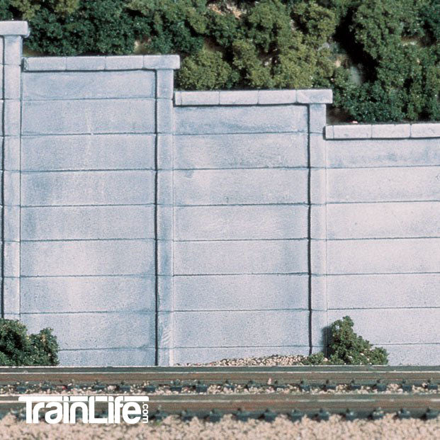 HO Scale: Concrete Retaining Wall