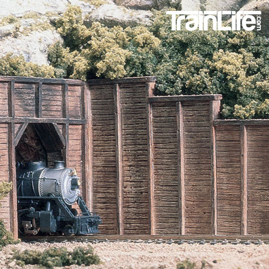 HO Scale: Timber Retaining Wall
