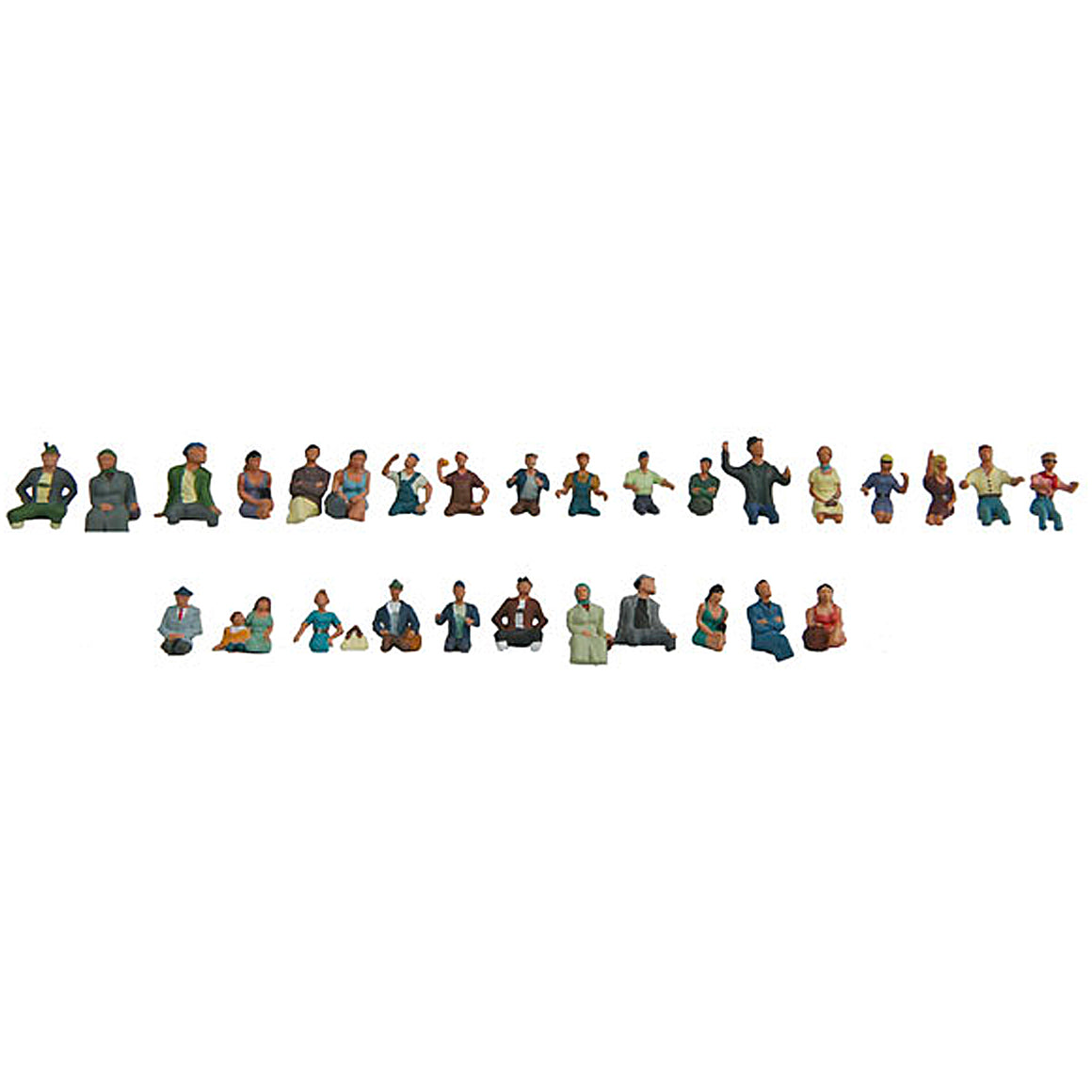 HO Scale: Seated Coach Passengers - 30 Pack