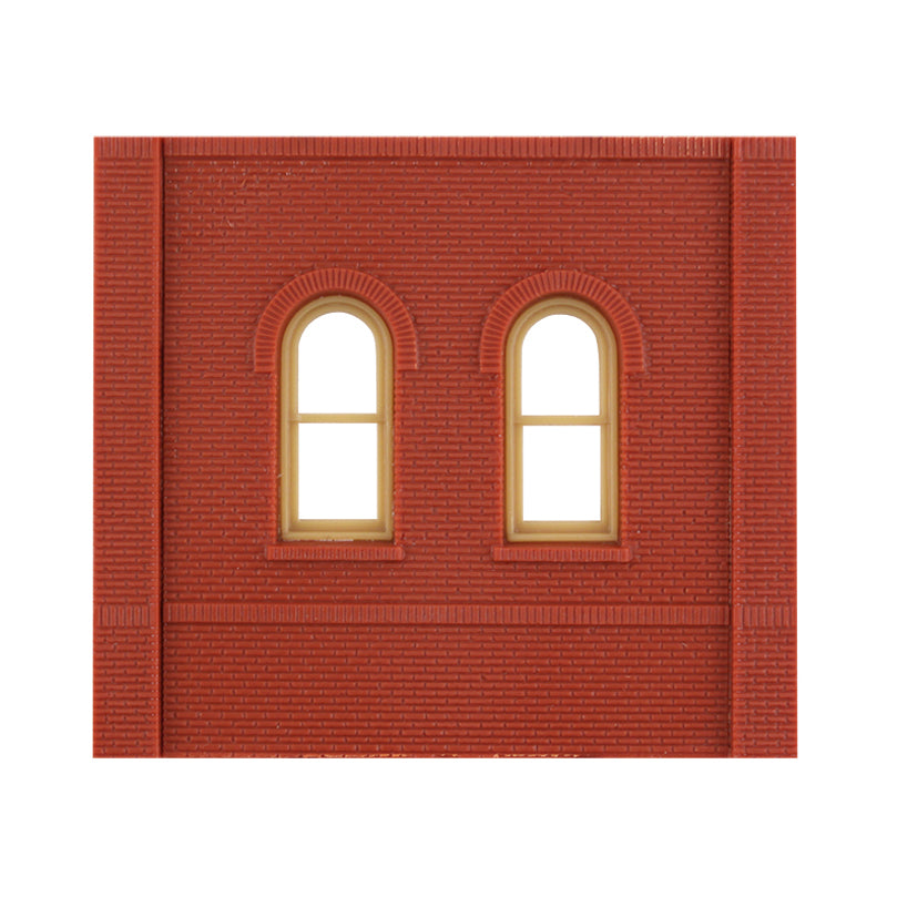 HO Scale: Modular Structures - Single Story Arched Window/Door Panels - Kit