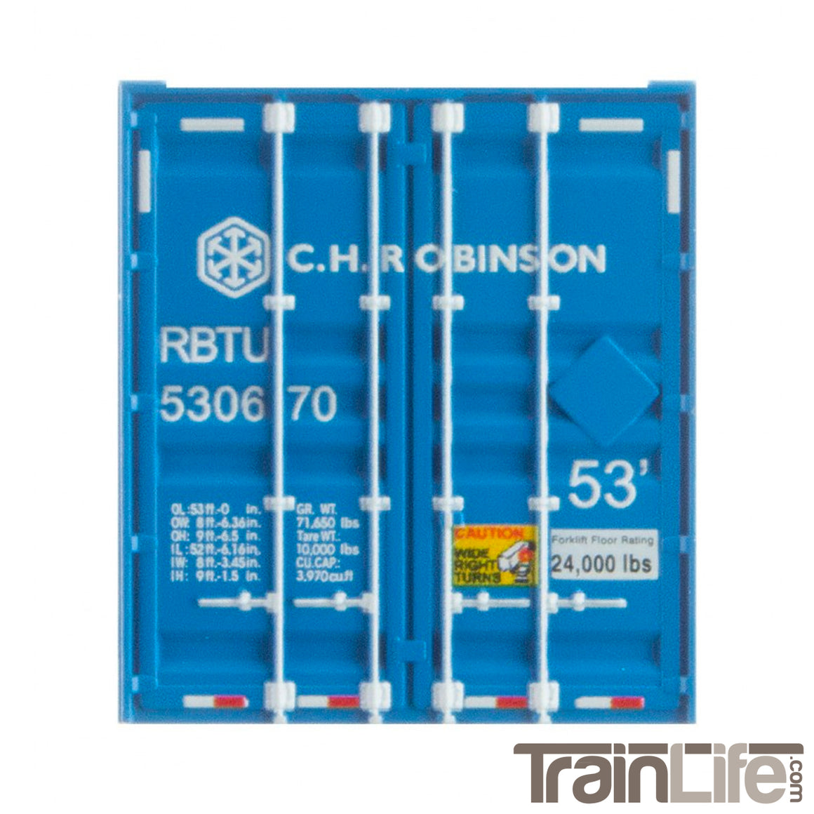 N Scale: 53' Corrugated Container - C.H. Robinson