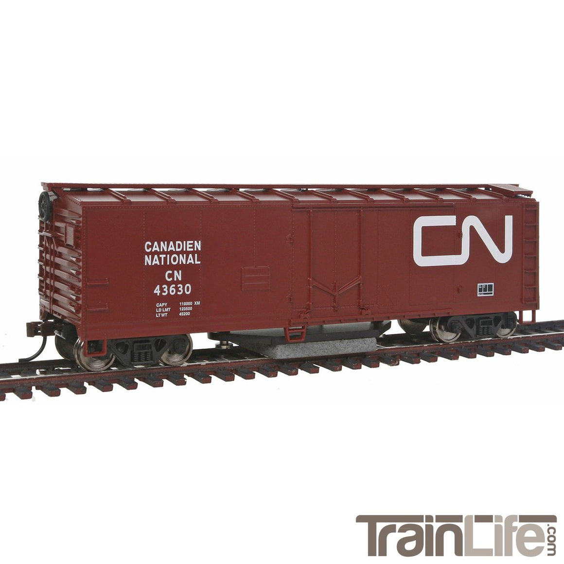 HO Scale: 40' Track Cleaning Plug Door Boxcar - CN