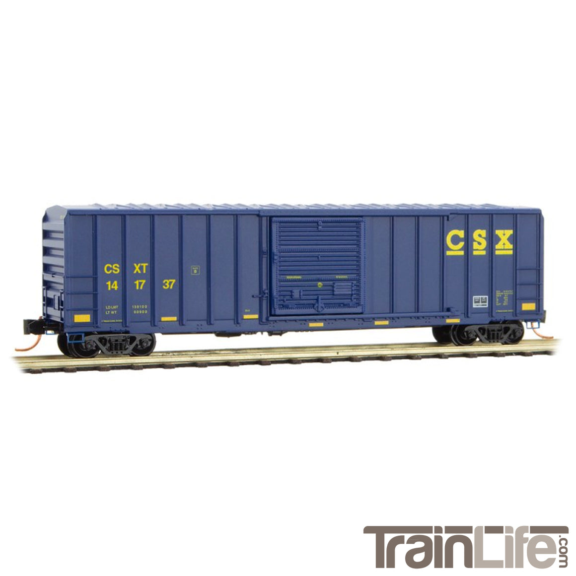 N Scale: 50' Rib Side Box Car - CSX