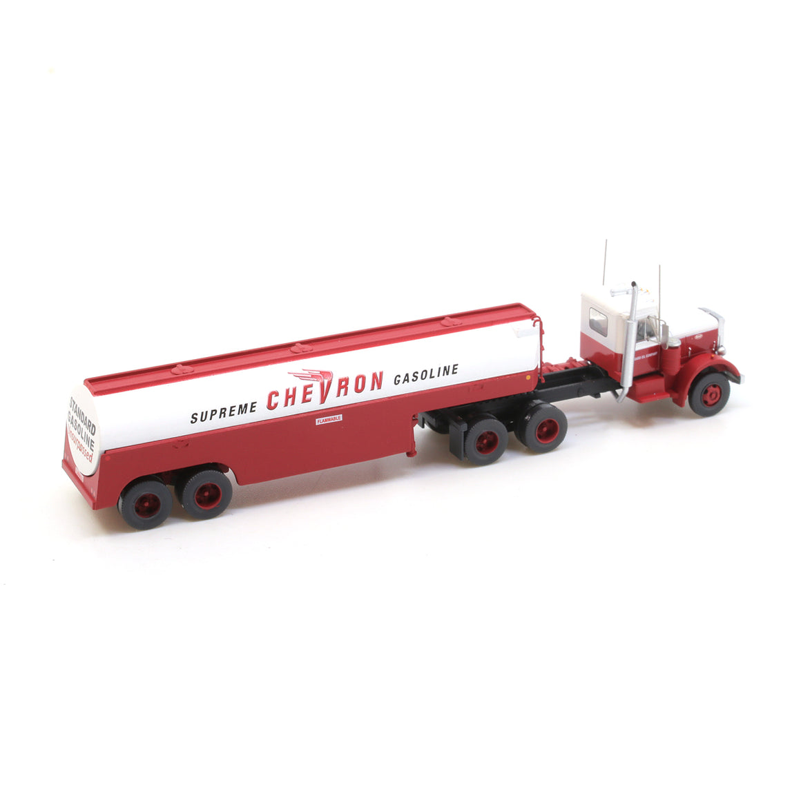 N Scale: Peterbilt 351 with Fuel Tank Trailer - Chevron