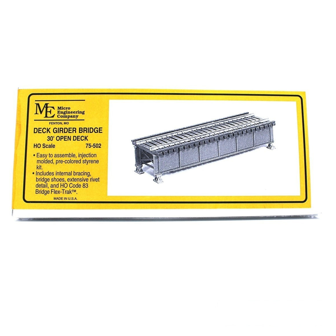HO Scale: Open Deck Girder Bridge - 30-Foot