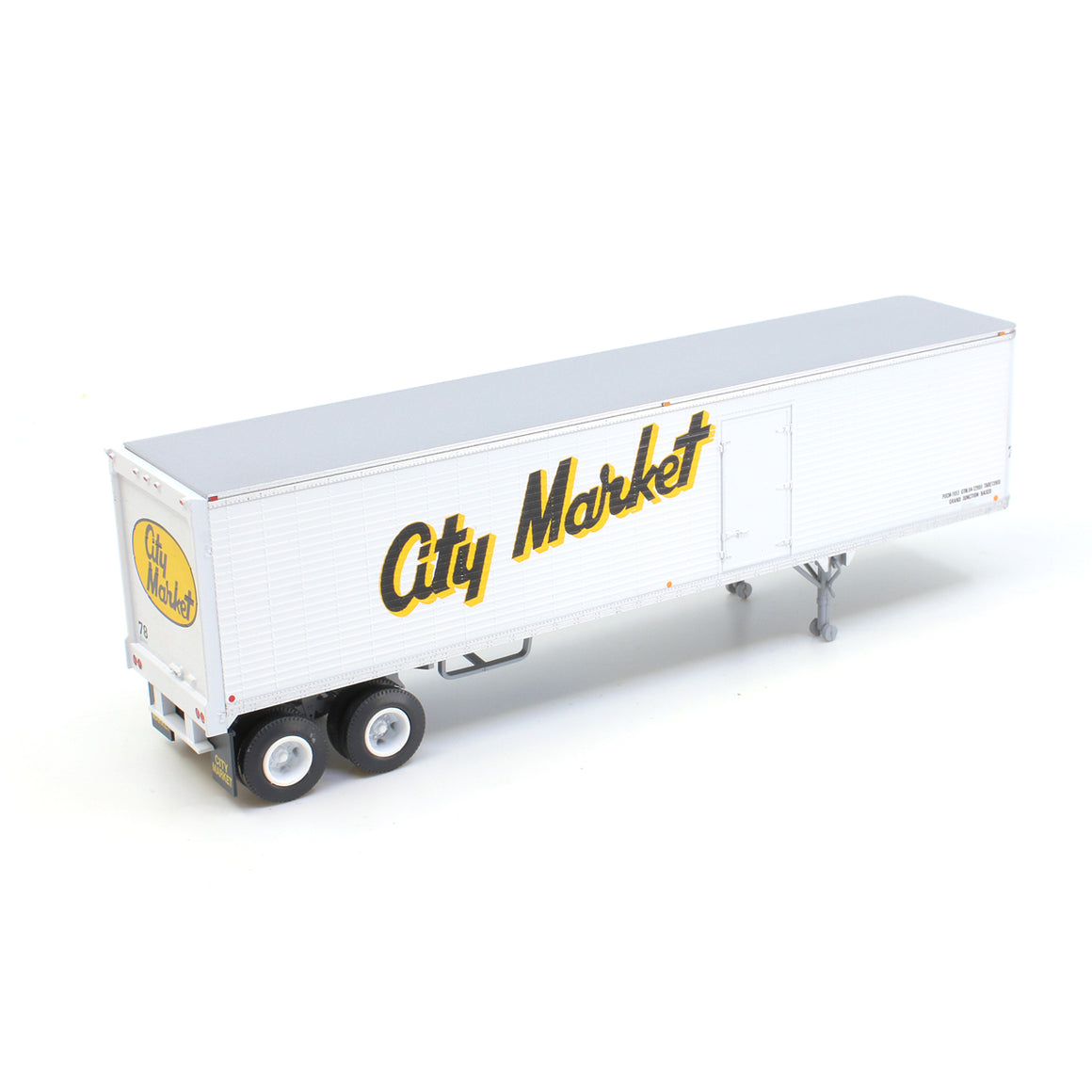 HO Scale: 40' Corrugated Semi Trailer - City Market