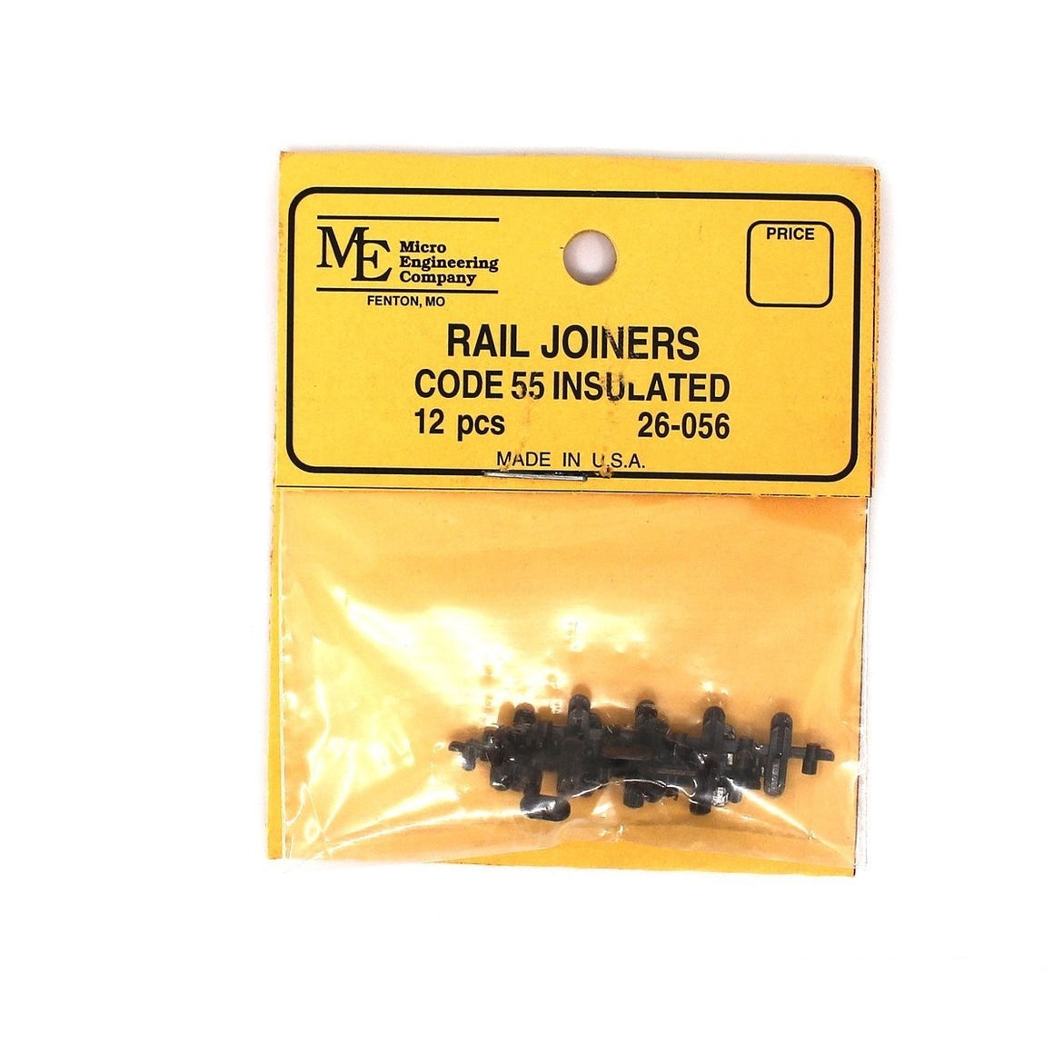 HO Scale: Plastic Insulated Rail Joiners - Code 55 (12 Pack)