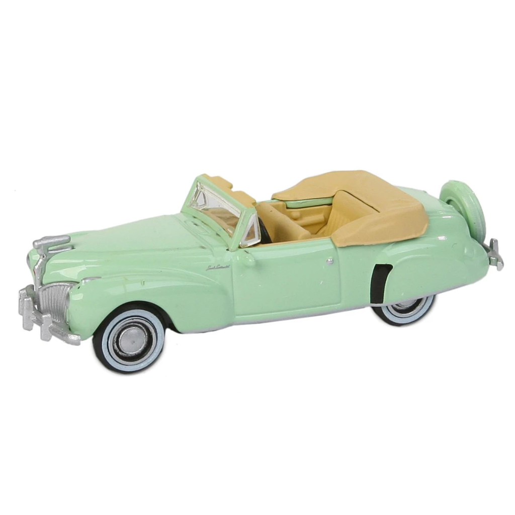 HO Scale: 1941 Lincoln Continental Convertible - Paradise Green