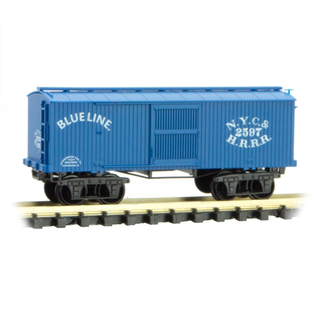N Scale: 1860s Freight Cars - NYC&HRRR 'Blue Line' - 4 Pack