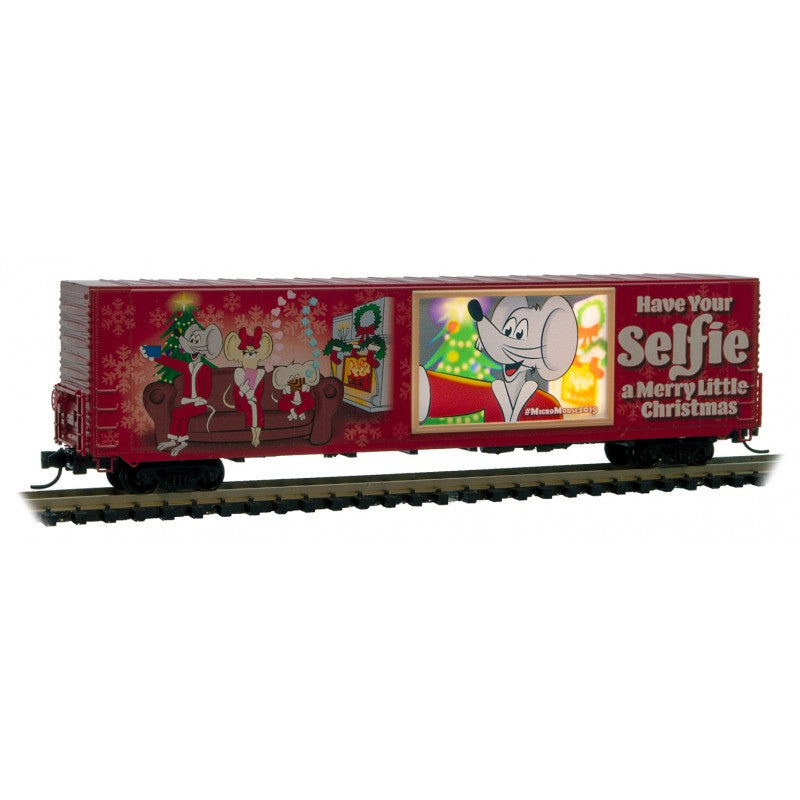N Scale: 60' Excess Height Boxcar - Micro-Mouse - 2019 Christmas Car