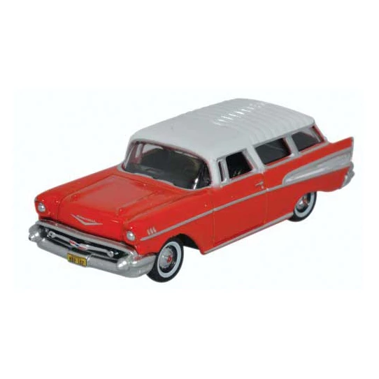 HO Scale: 1957 Chevrolet Nomad - Red & White