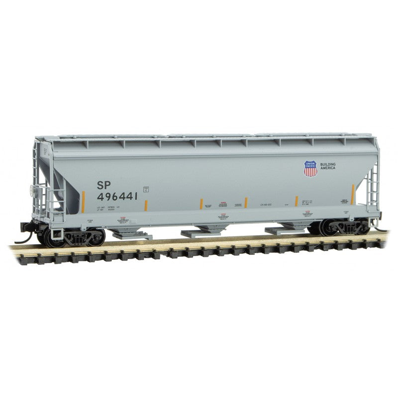 N Scale: 3-Bay Covered Hopper - Union Pacific