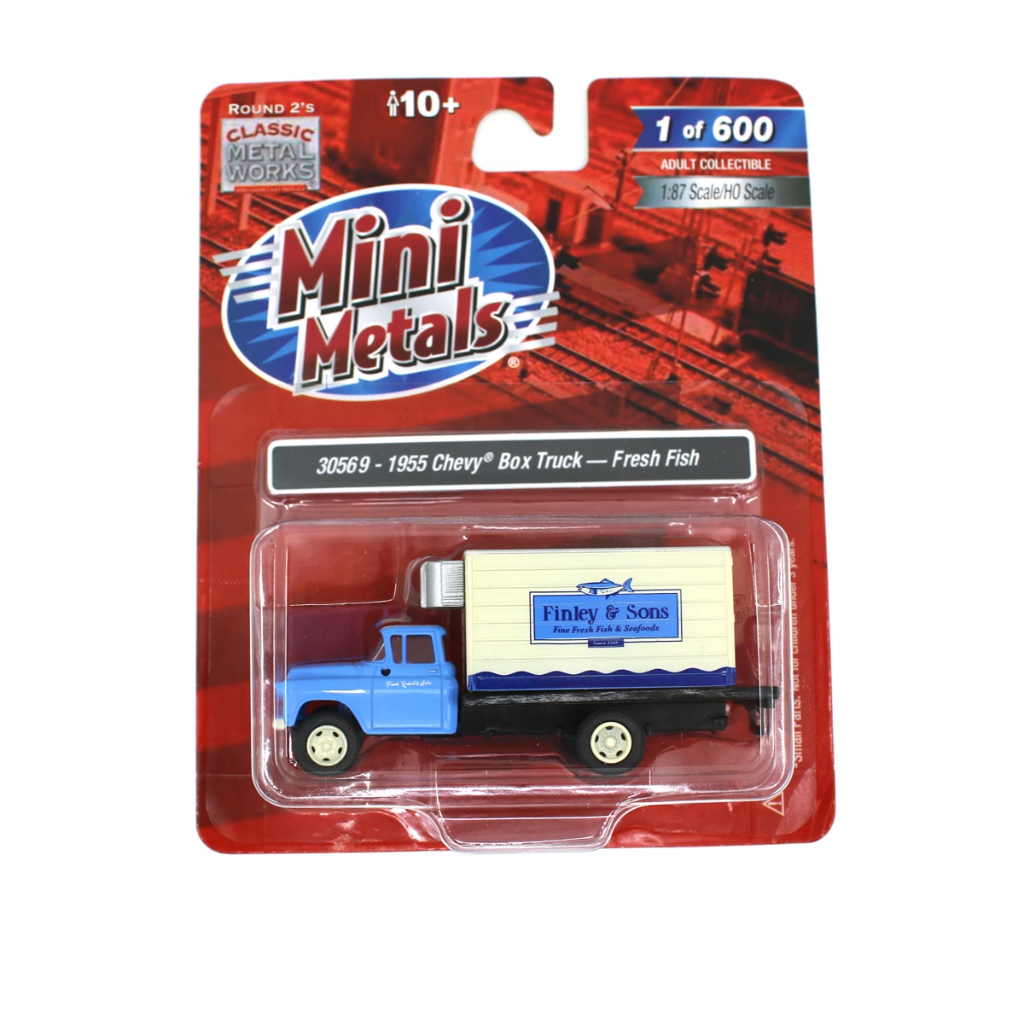 HO Scale: 1955 Chevy Box Truck - Fiinley Fine Fresh Fish