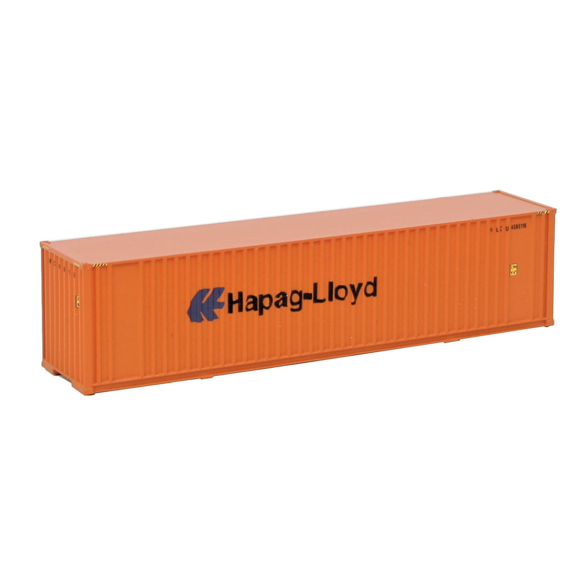N Scale: 40' Hi Cube Ribbed Side Container - Hapag-Lloyd