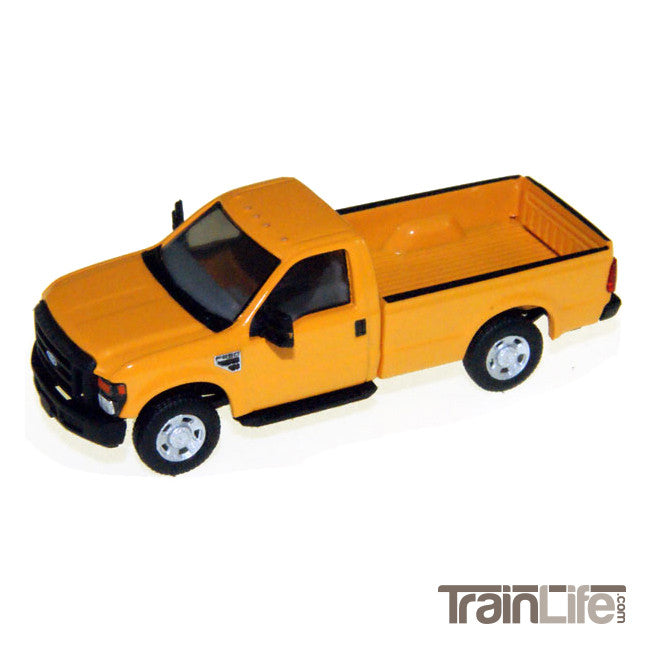HO Scale: Lighted F250 Work Truck - Yellow