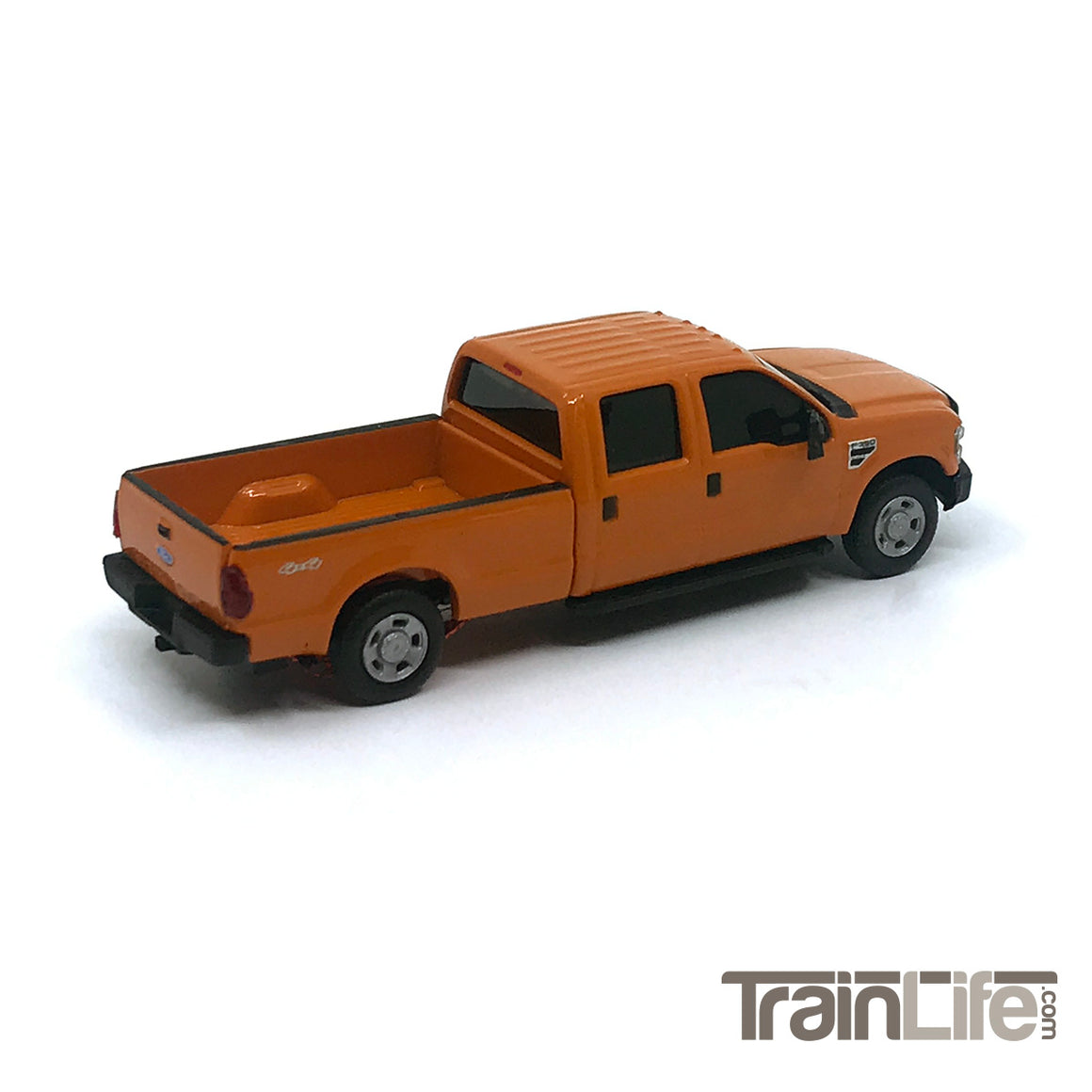 HO Scale: Lighted Ford F350 Crew Cab Truck - Orange