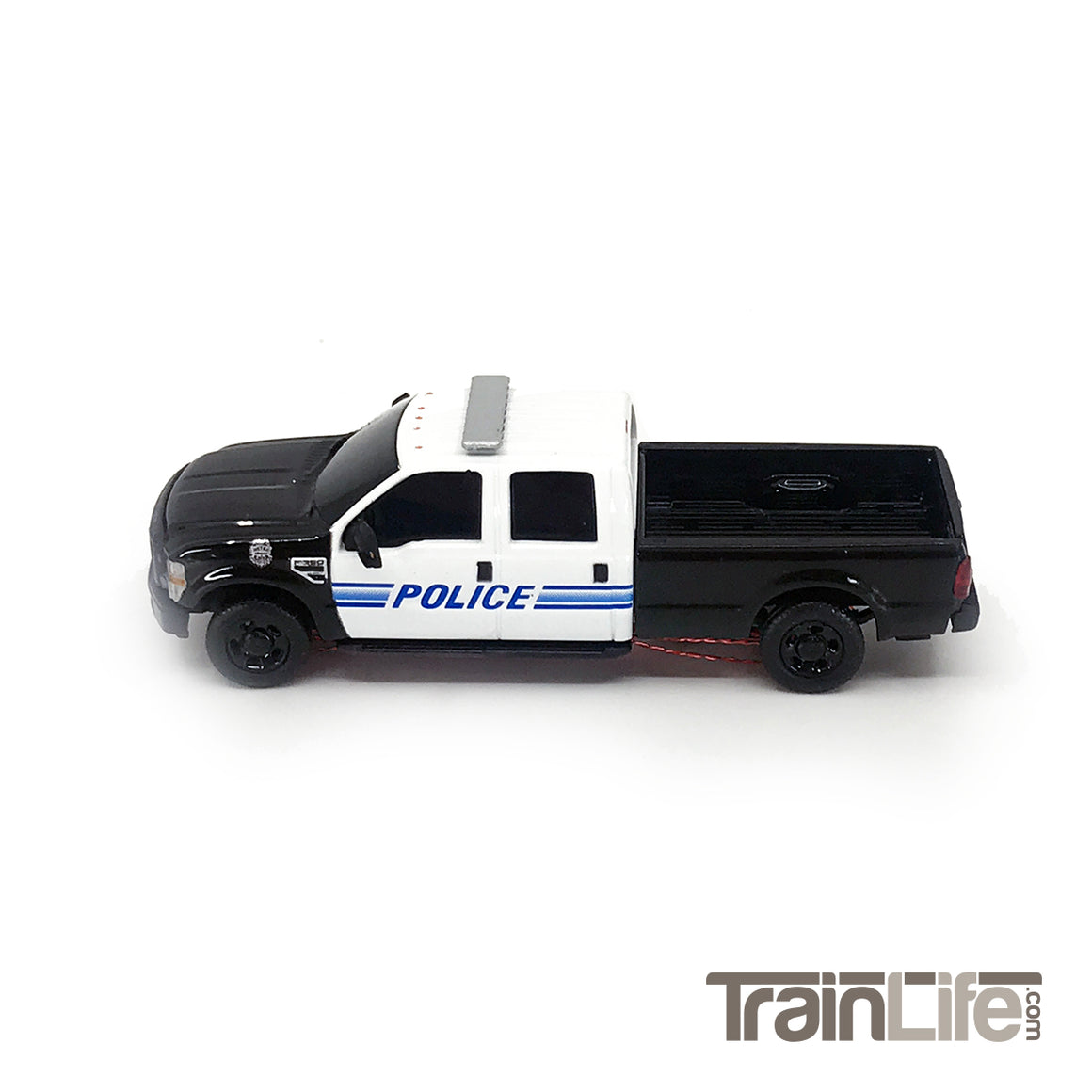 HO Scale: Lighted Ford F350 Crew Cab Truck - Police