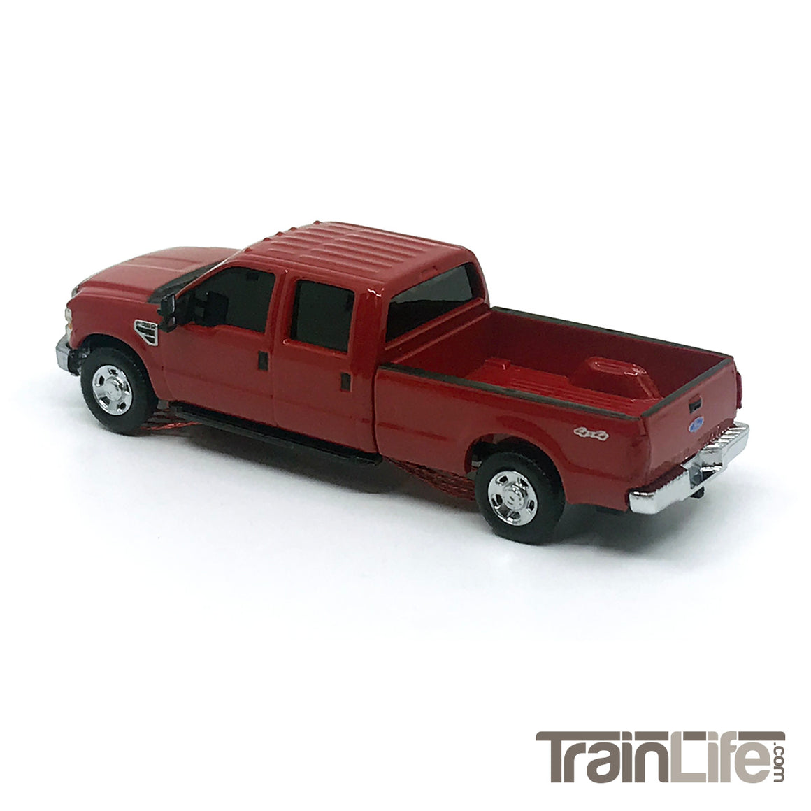 HO Scale: Lighted Ford F350 Crew Cab Truck - Red