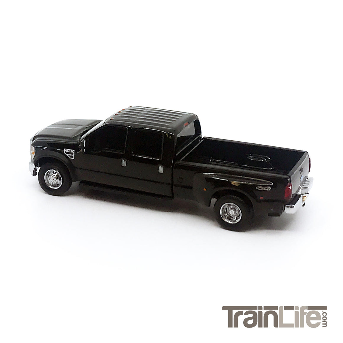 HO Scale: Lighted Ford F350 Crew Cab Dually Truck - Black