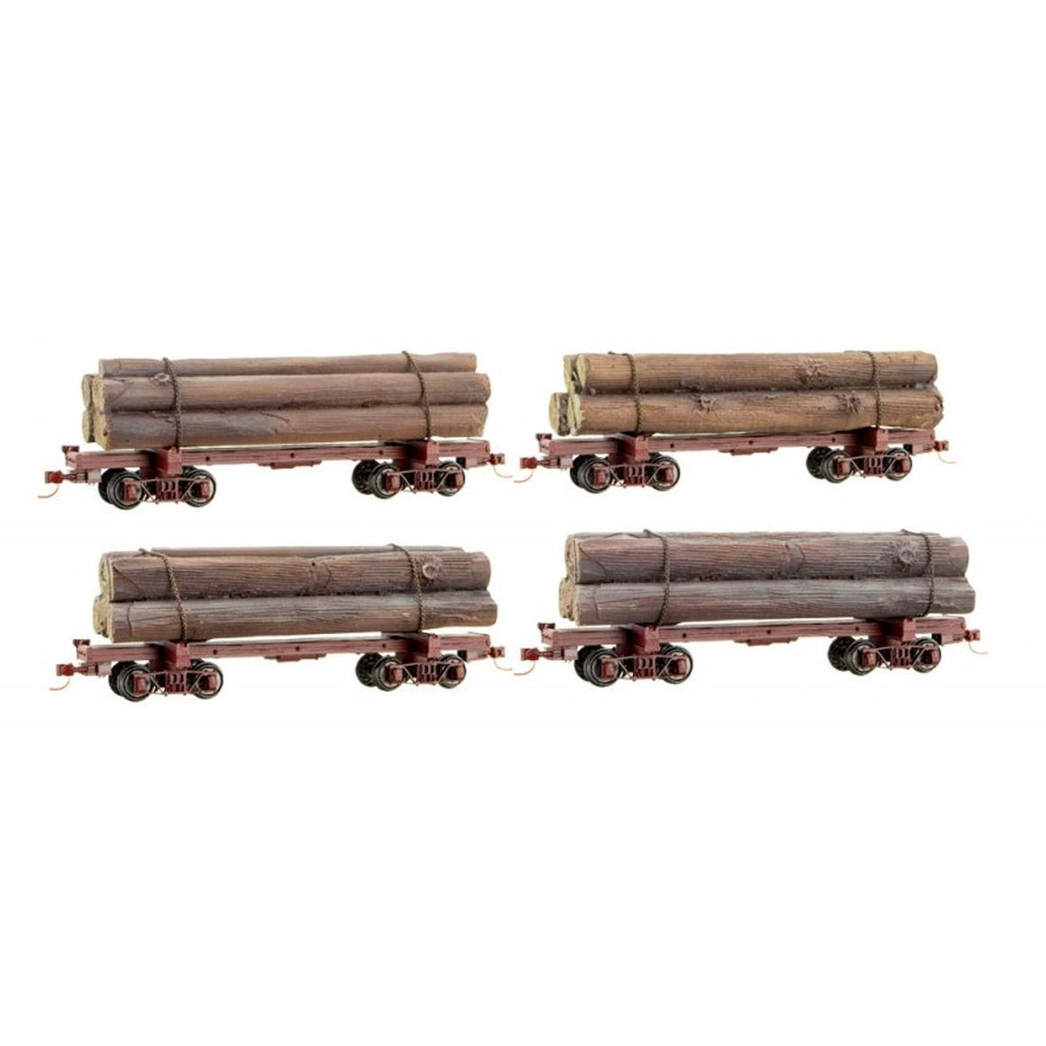 HOn3 Gauge: Skeleton Log Car - 4 Pack