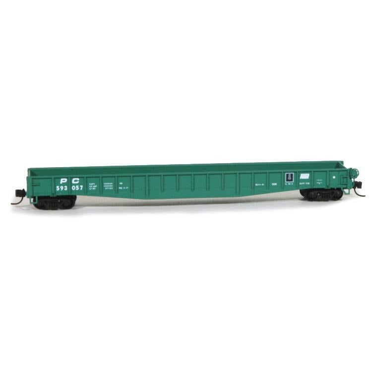 N Scale: PRR Class G26 Mill Gondola : Penn Central