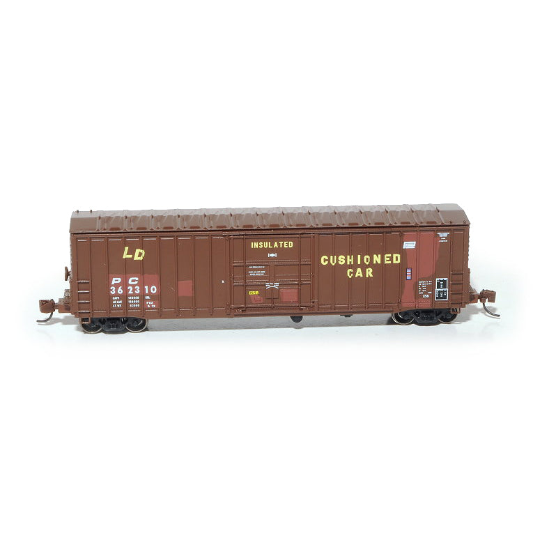 N Scale: Pennsylvania 50' Boxcar, Class X58 - Penn Central 'Ex PRR'