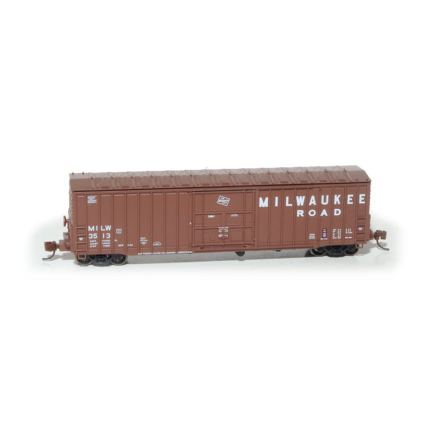 N Scale: Pennsylvania 50' Boxcar, Class X58 - Milwaukee Road