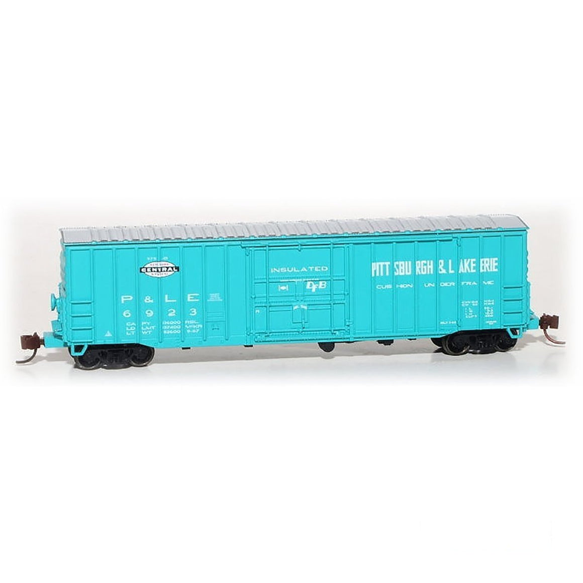 N Scale: Despatch Shops 50' Boxcar - Class X65 - Pittsburg & Lake Erie - Jade Green