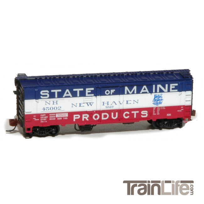 N Scale: PC&F XIH Boxcar - New Haven & Hartford 1953