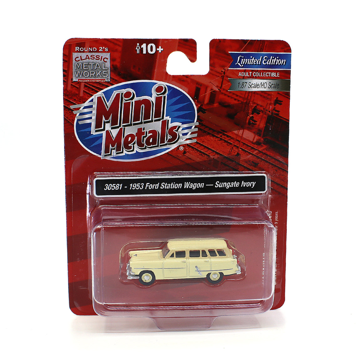 Classic Metal Works HO Scale: 1953 Ford Station Wagon - Sungate Ivory