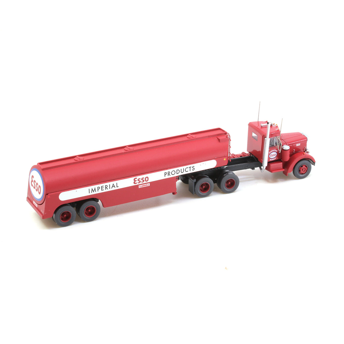 N Scale: Peterbilt 350 with Fuel Tank Trailer - Esso