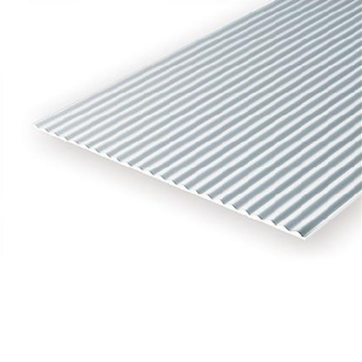 "Polystyrene: .040 Corrugated Metal Siding Sheets - 6""x12"""
